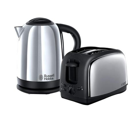 Russell Hobbs 21830 Lincoln Twin Pack 2 Slice Toaster & 1.7 Litre Kettle - Silver Thumbnail 2