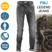 PMJ Rider Motorcycle Mens Slim Fit Jeans|EN 13595-2 Tested|100% TWARON|Grey