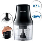 Philips DailyCollection Chopper 450W | Stainless Steel Blades | Diswasher Safe | Black