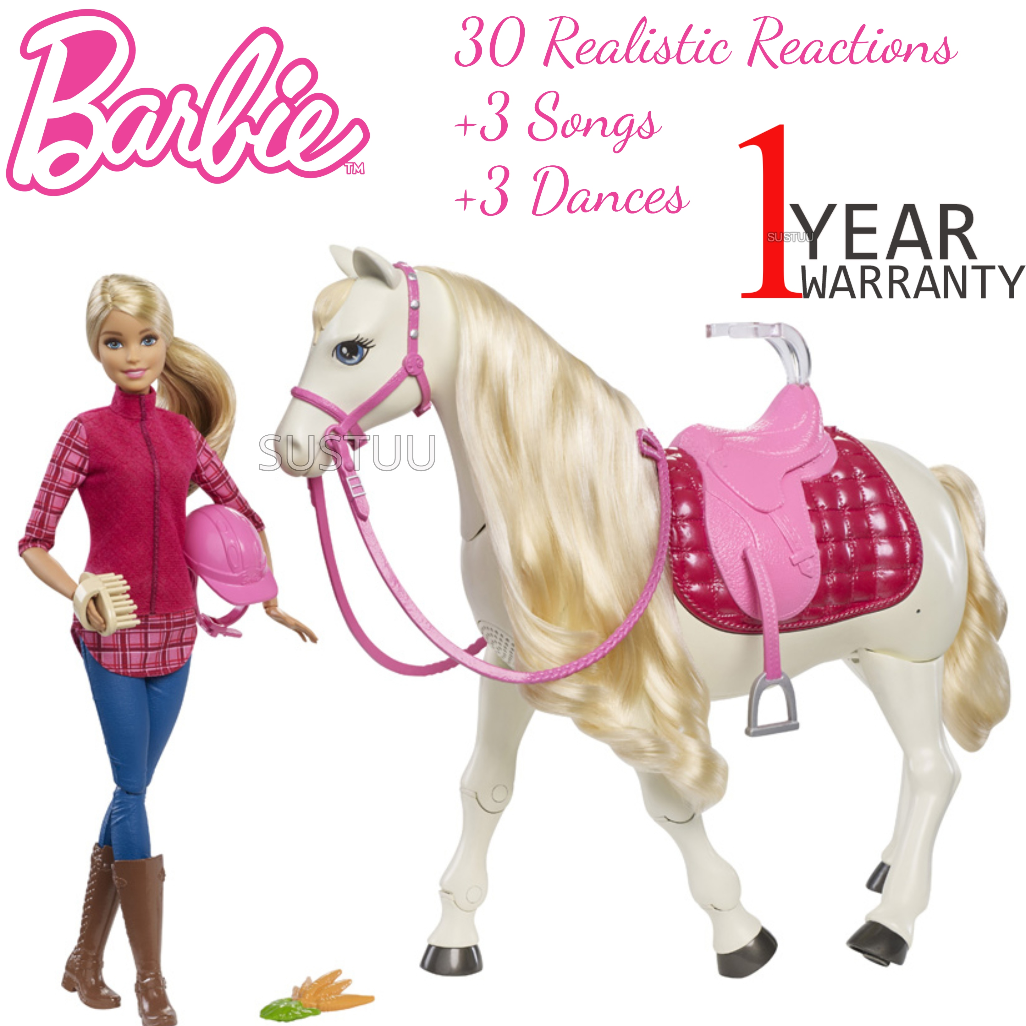 Barbie with Dream Horse | Baby's Fun Playset | Voice & Touch Activated | Realistic | +3 Year