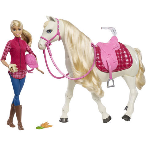 Barbie with Dream Horse | Baby's Fun Playset | Voice & Touch Activated | Realistic | +3 Year Thumbnail 2
