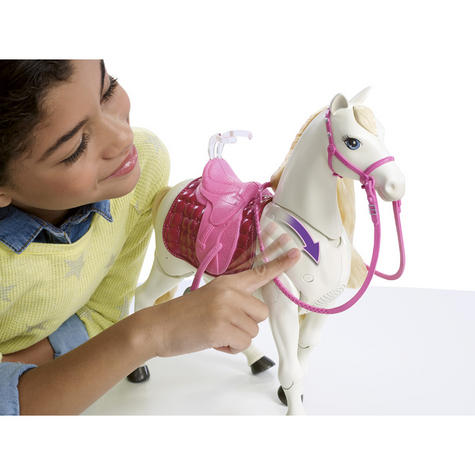 Barbie with Dream Horse | Baby's Fun Playset | Voice & Touch Activated | Realistic | +3 Year Thumbnail 4