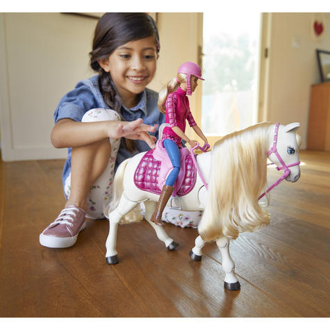 Barbie with Dream Horse | Baby's Fun Playset | Voice & Touch Activated | Realistic | +3 Year Thumbnail 5