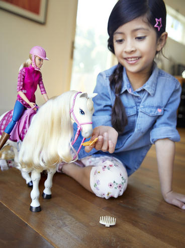 Barbie with Dream Horse | Baby's Fun Playset | Voice & Touch Activated | Realistic | +3 Year Thumbnail 6