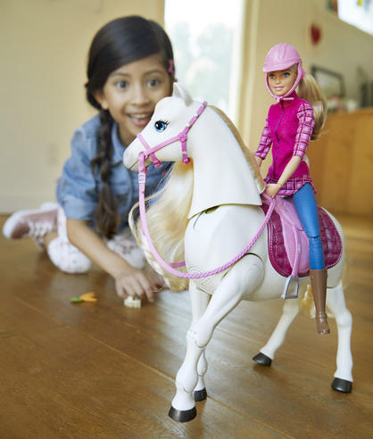 Barbie with Dream Horse | Baby's Fun Playset | Voice & Touch Activated | Realistic | +3 Year Thumbnail 7