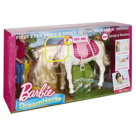 Barbie with Dream Horse | Baby's Fun Playset | Voice & Touch Activated | Realistic | +3 Year Thumbnail 8