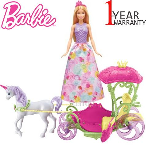 Barbie Dreamtopia Sweetville Kingdom Carriage | Princess Doll+Unicorn Playset | +3 Year Thumbnail 1
