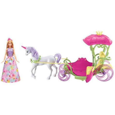 Barbie Dreamtopia Sweetville Kingdom Carriage | Princess Doll+Unicorn Playset | +3 Year Thumbnail 2