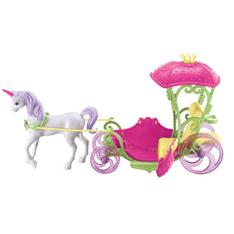 Barbie Dreamtopia Sweetville Kingdom Carriage | Princess Doll+Unicorn Playset | +3 Year Thumbnail 3