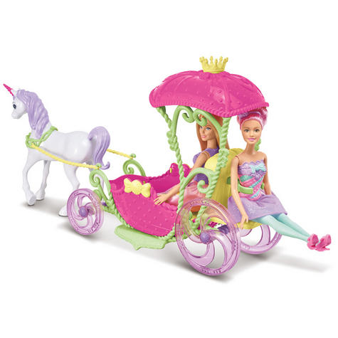 Barbie Dreamtopia Sweetville Kingdom Carriage | Princess Doll+Unicorn Playset | +3 Year Thumbnail 6