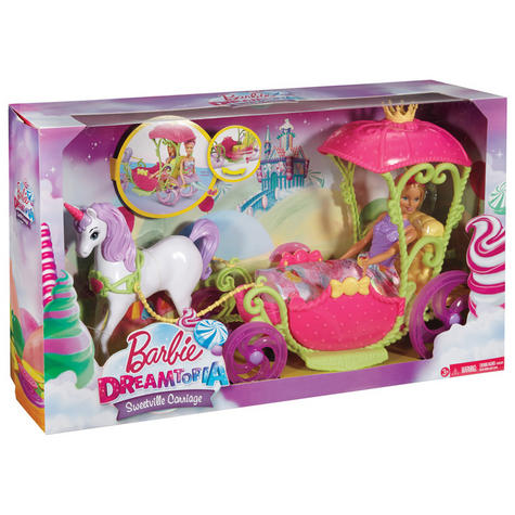 Barbie Dreamtopia Sweetville Kingdom Carriage | Princess Doll+Unicorn Playset | +3 Year Thumbnail 7