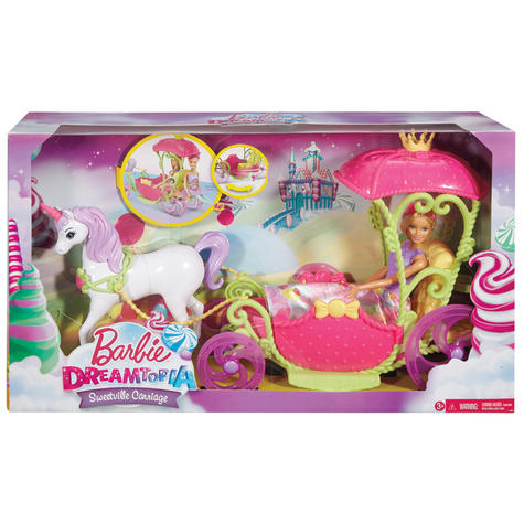 Barbie Dreamtopia Sweetville Kingdom Carriage | Princess Doll+Unicorn Playset | +3 Year Thumbnail 8