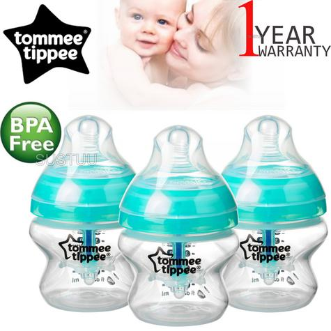 Tommee Tippee Advanced Anti-Colic Baby Feeding Bottle 150ml | Heat Sensing | 3 Pack Thumbnail 1
