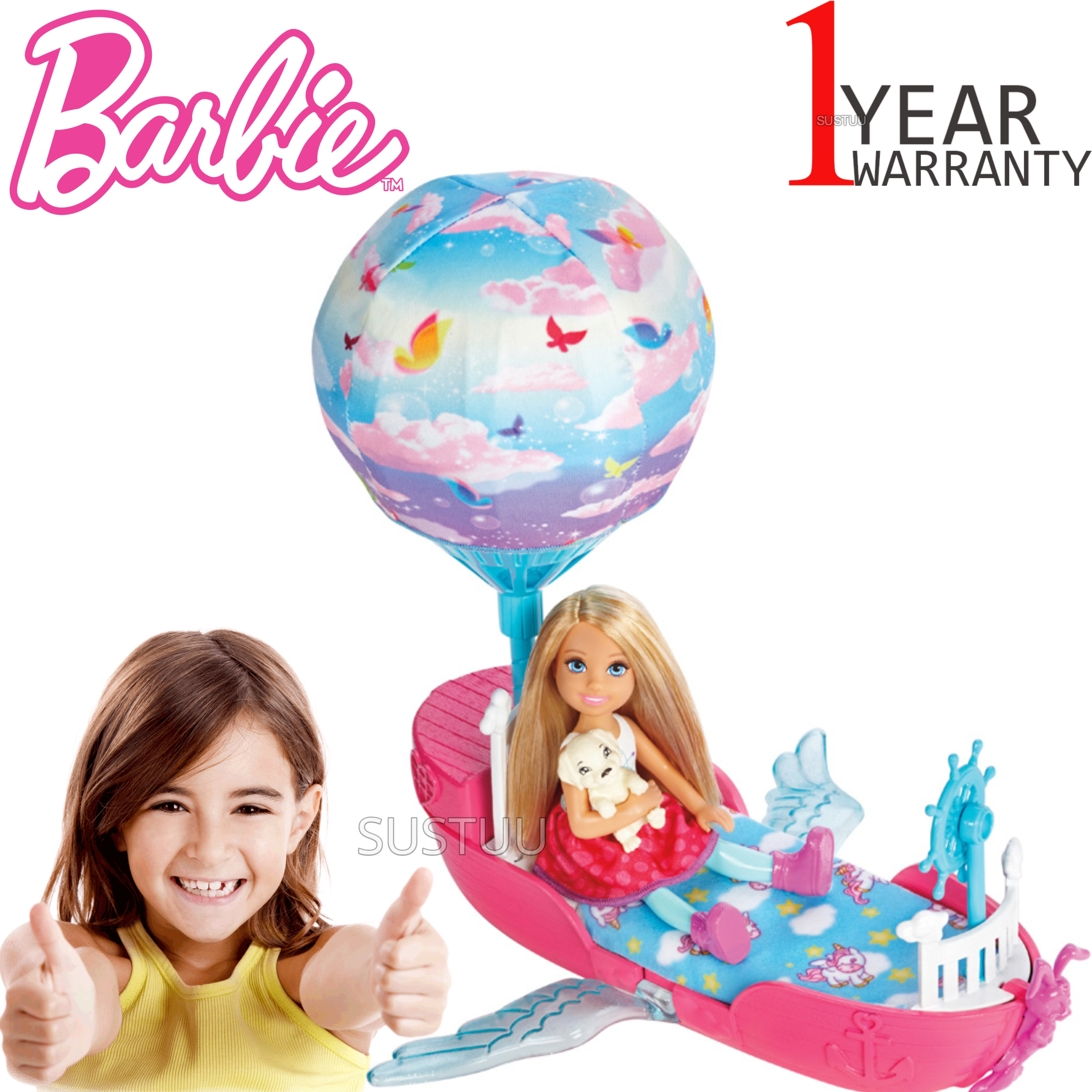 Barbie Dreamtopia Magical Dreamboat With Chelsea Doll | Baby/Toddler's Playset | +3 Years