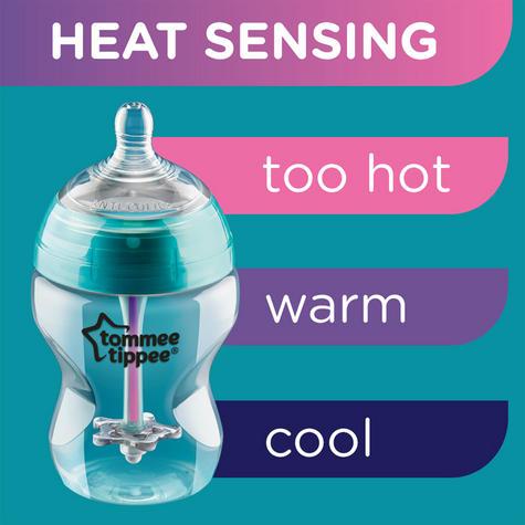 Tommee Tippee Advanced Comfort Anti-Colic baby Feeding Bottle 260ml   Heat Sensing Thumbnail 5