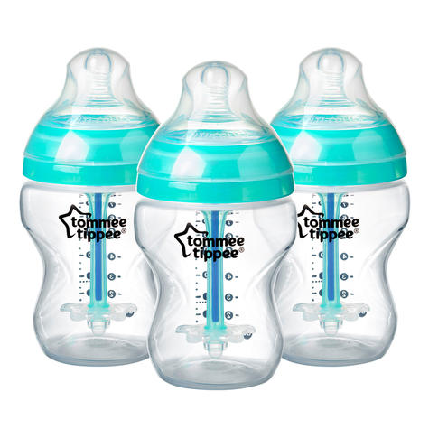 Tommee Tippee Advanced Anti-Colic Baby Feeding Bottle 260ml | Heat Sensing | 3 Pack Thumbnail 2