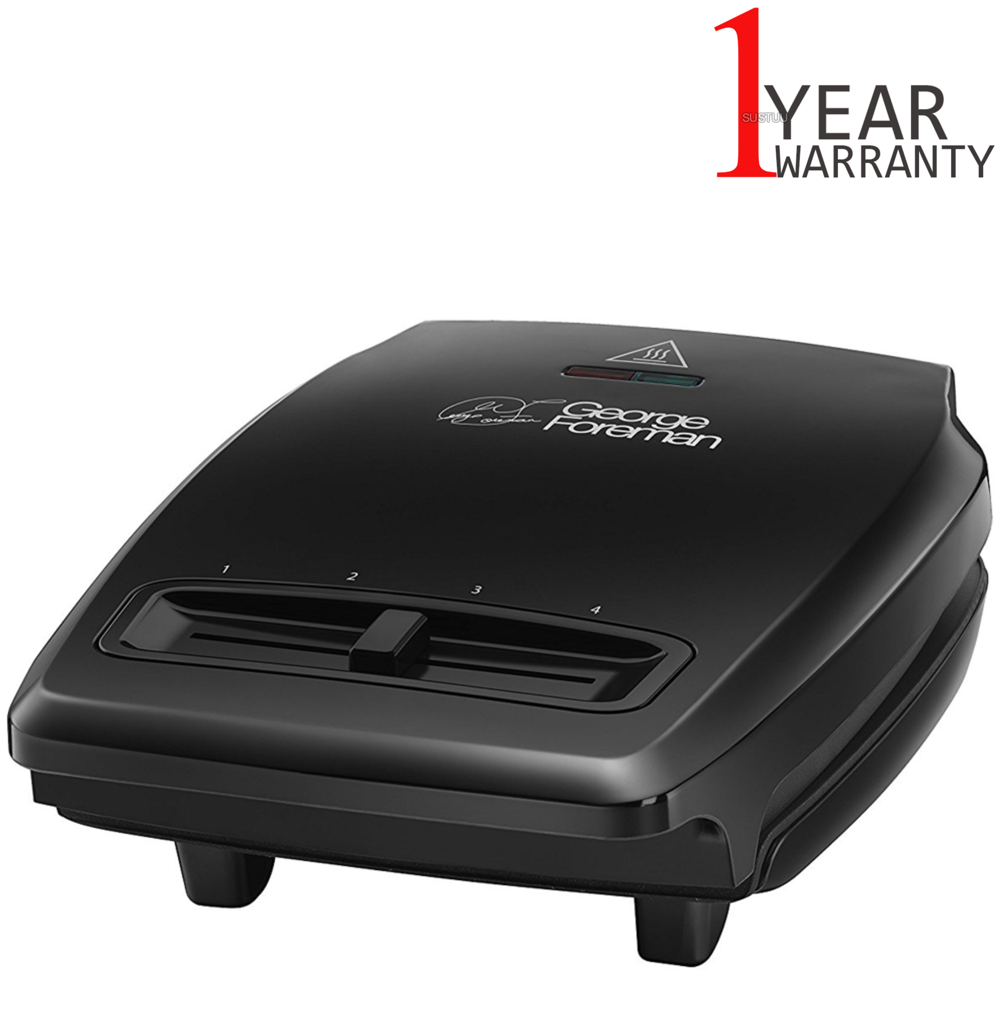 George foreman compact 3 portion grill variable temperature drip tray 1100w new sustuu - Drip tray george foreman grill ...