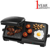 George Foreman 10 Portion Entertaining Grill & Griddle Machine 2 in1 | 2180W | Black