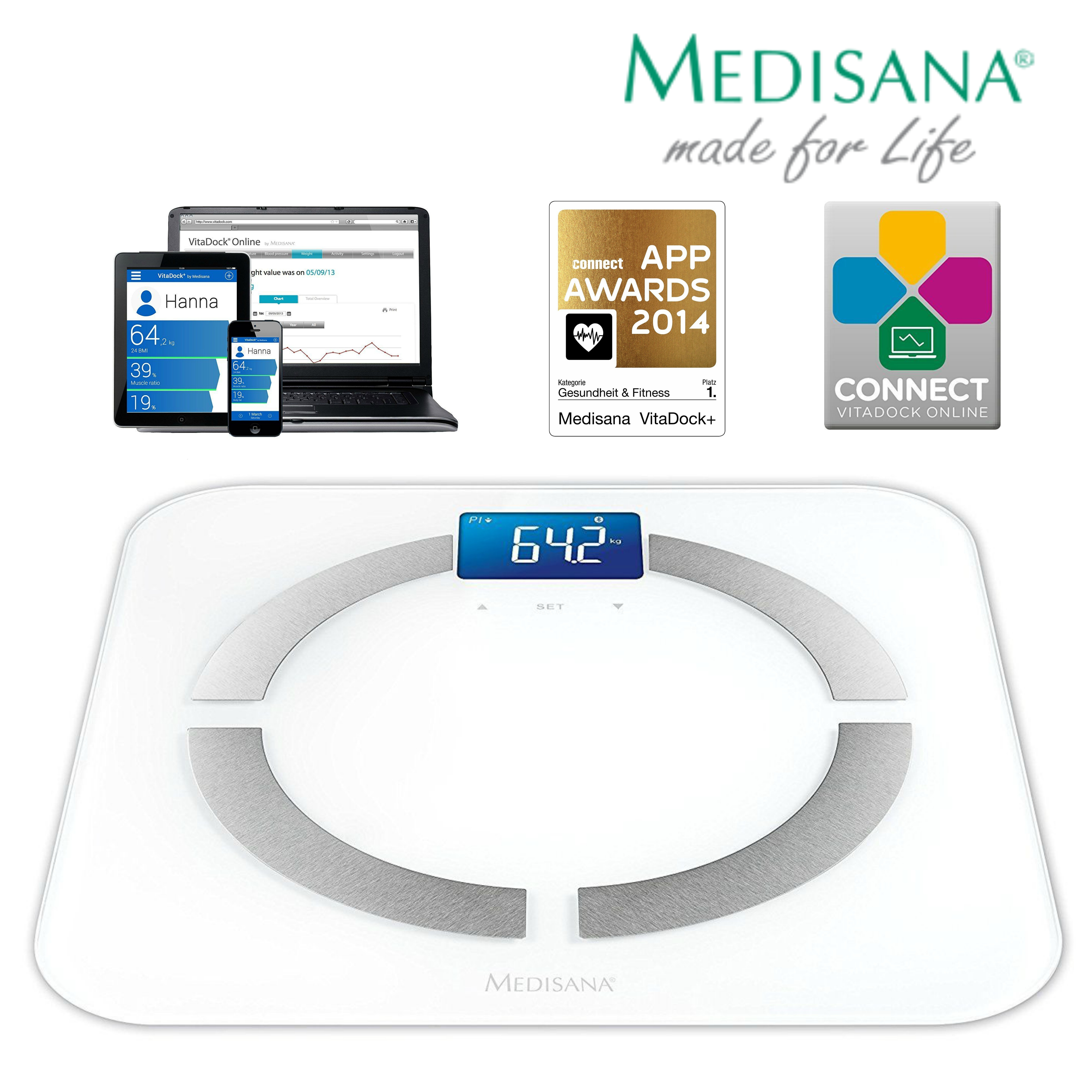 Medisana BS430 Body Analysis LCD Scale|Accurate Measure|iOS Android Compatible