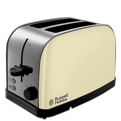 Russell Hobbs 18783 Dorchester Wide Sloat 2-Slice Toaster | Stainless Steel | Cream Thumbnail 2