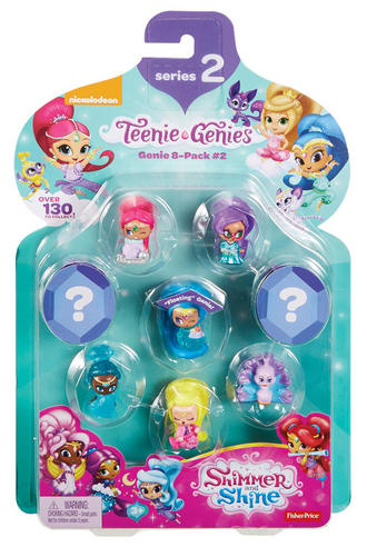 Shimmer and Shine Teenie Genie 8Pk | Kid/Baby's Fun Activity Playset | Giftware | +3 Years Thumbnail 2