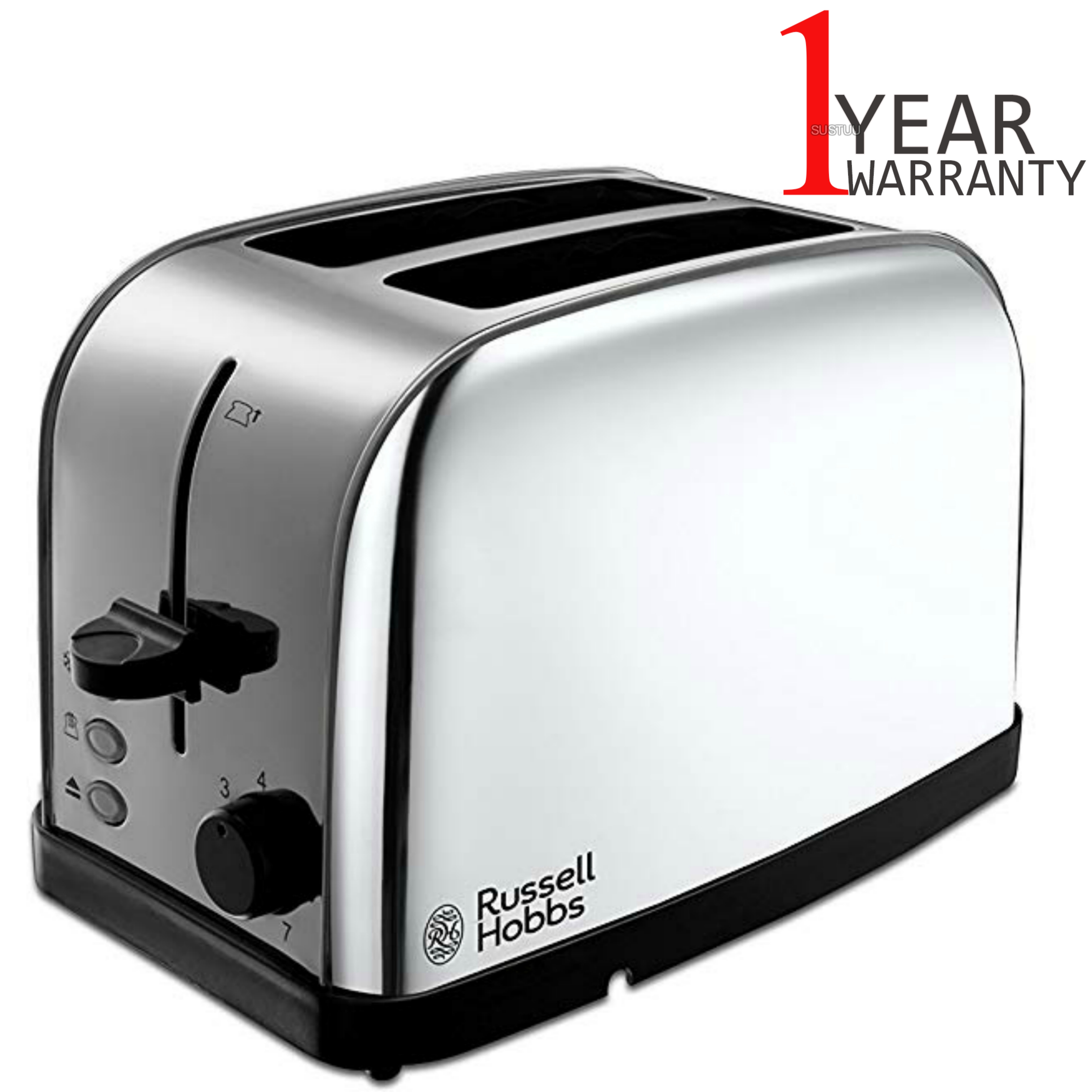 Russell Hobbs 18784 Dorchester 2-Slice Toaster | Reheat Function | Stainless Steel