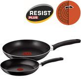Tefal 2 Piece Delight Cookware Set | 24 & 28cm Frying Pans | Non-Stick Coating | Black