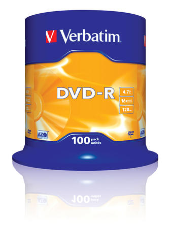 Verbatim 43549 4.7GB 16x DVD-R Matt Silver | 100 Pack Spindle | Superior Life DVD Thumbnail 2