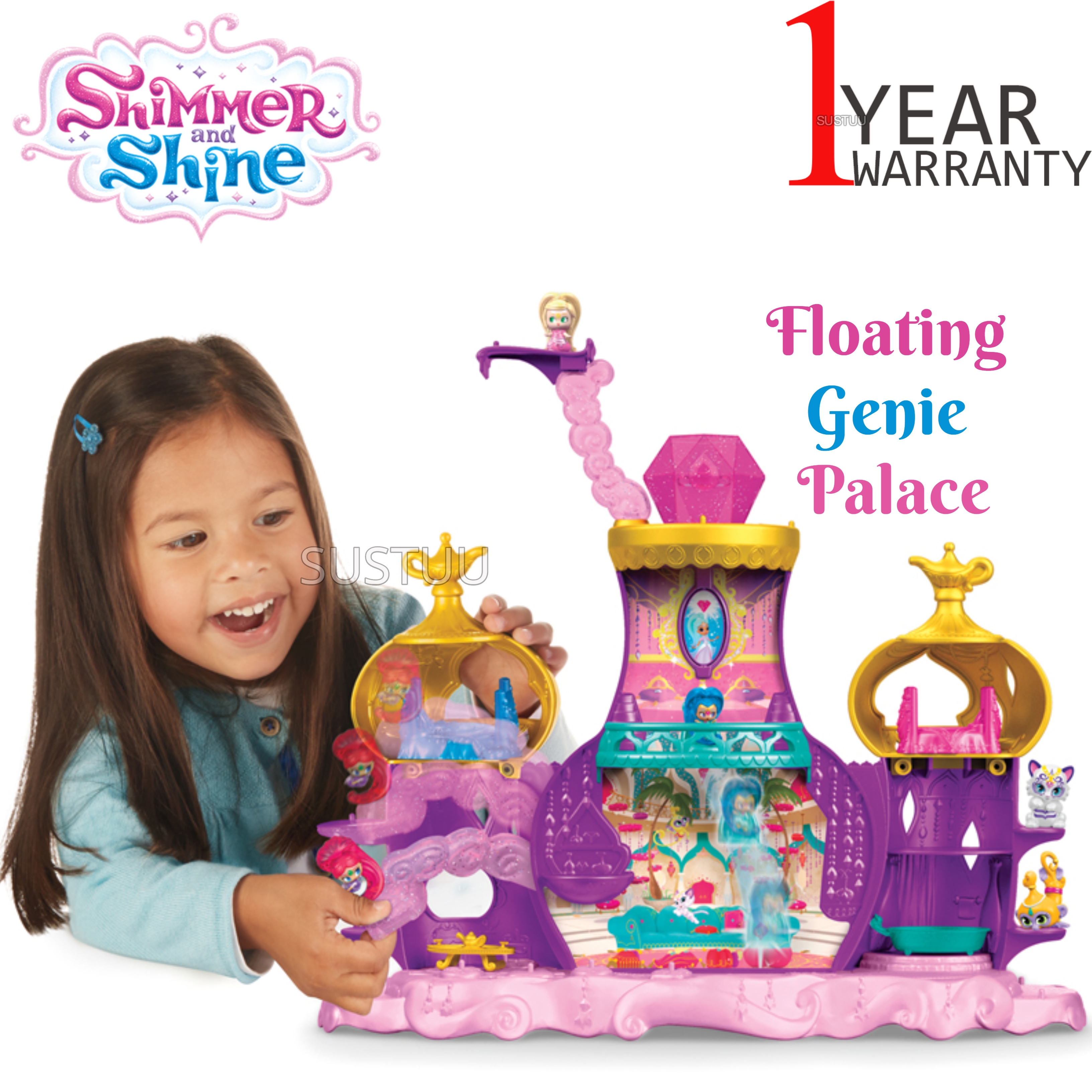 Shimmer and Shine Floating Genie Palace | Kid/Baby's Fun Activity Playset | Giftware | +3 Years