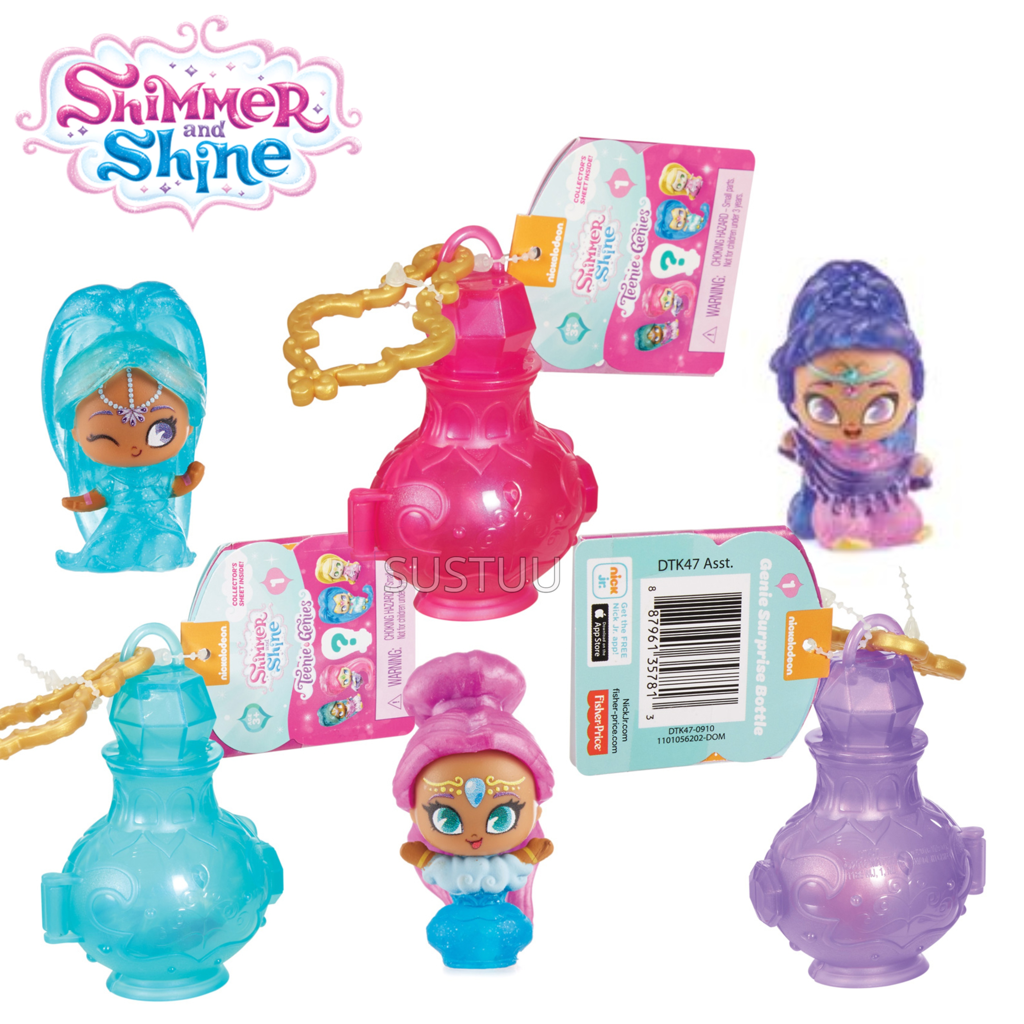 Shimmer and Shine Teenie Genie Bottle Surprise | Kid/ Baby's Fun Activity Playset | Giftware | +3 Years