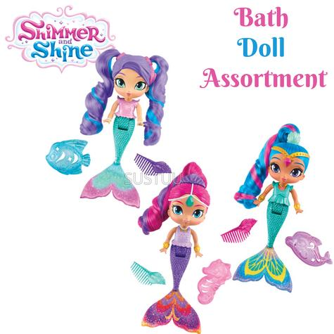 Shimmer and Shine Bath Doll Assortment | Baby's Bathing Fun Activity Toy | GiftWare | +3 Years Thumbnail 1