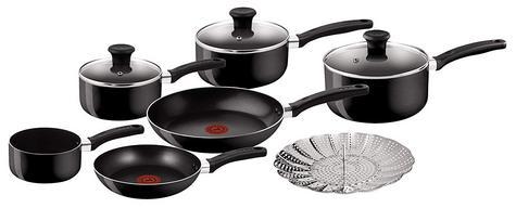 Tefal Delight 7 Piece Cookware Set | PTFE Non Stick Coating | Dishwasher Safe | Black Thumbnail 2