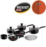 Tefal Delight 7 Piece Cookware Set | PTFE Non Stick Coating | Dishwasher Safe | Black