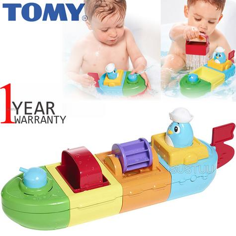 Tomy Mix & Match Motor Boat | Preschool Childrens Bath Time Toy With Spinning Drum Thumbnail 1