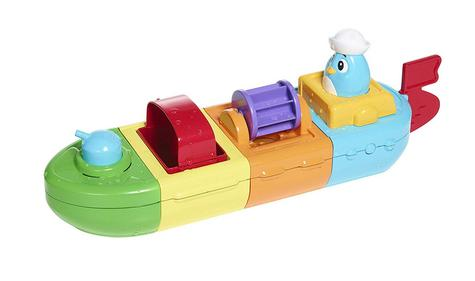 Tomy Mix & Match Motor Boat | Preschool Childrens Bath Time Toy With Spinning Drum Thumbnail 2