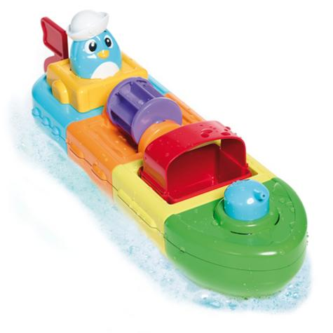 Tomy Mix & Match Motor Boat | Preschool Childrens Bath Time Toy With Spinning Drum Thumbnail 3