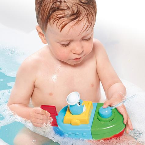 Tomy Mix & Match Motor Boat | Preschool Childrens Bath Time Toy With Spinning Drum Thumbnail 6