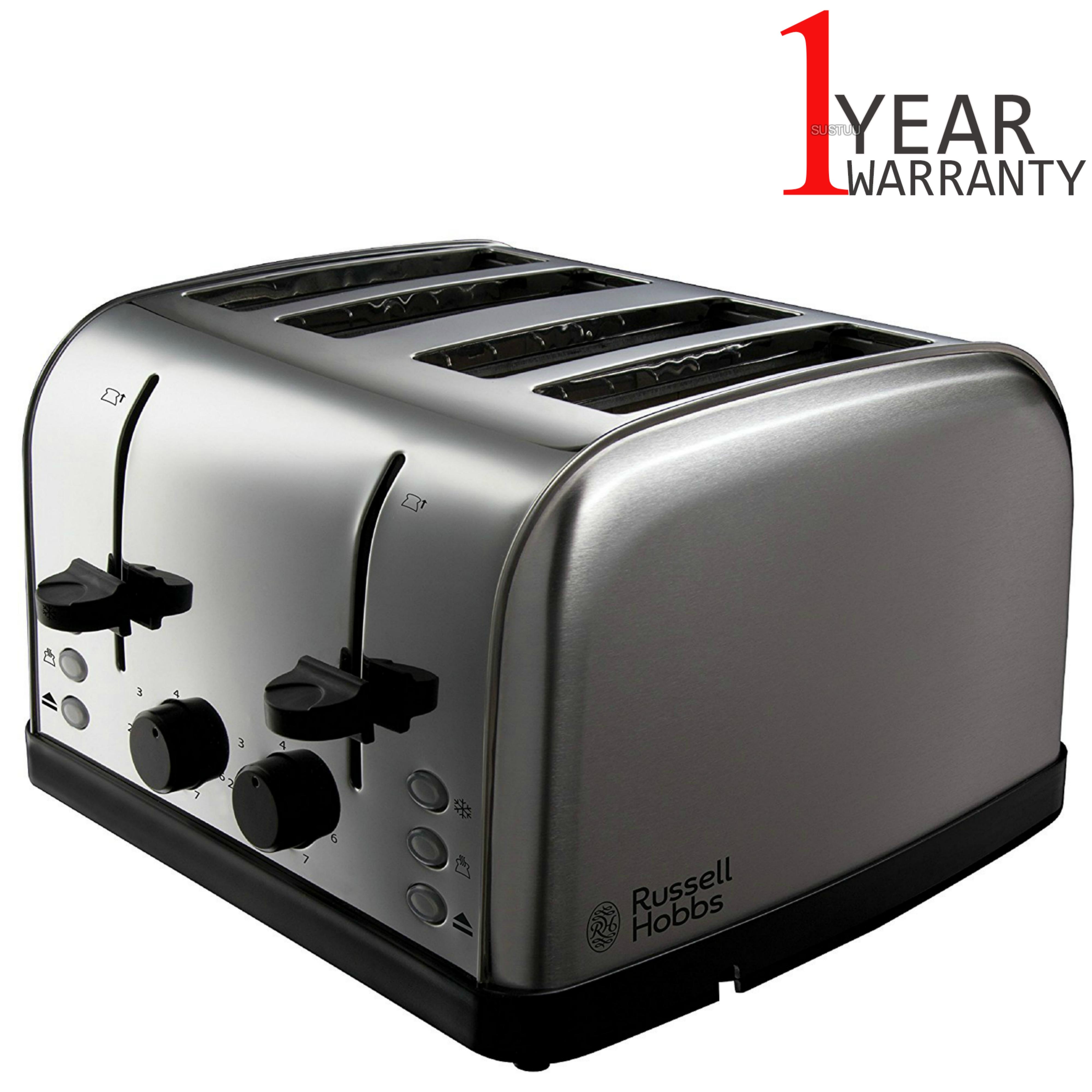 Russell Hobbs 18790 4-Slice Futura Toaster | Frozen Bread Function | Stainless Steel