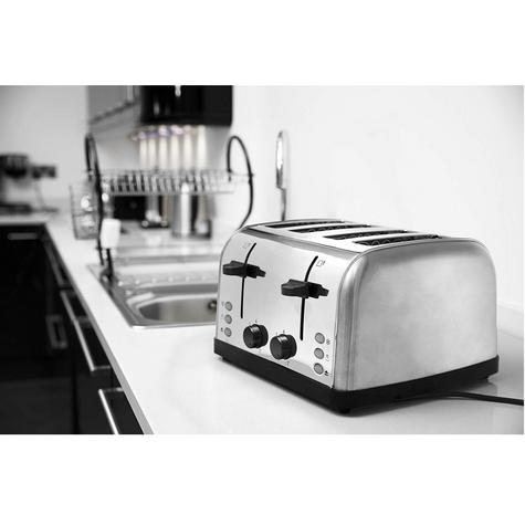 Russell Hobbs 18790 4-Slice Futura Toaster | Frozen Bread Function | Stainless Steel Thumbnail 5