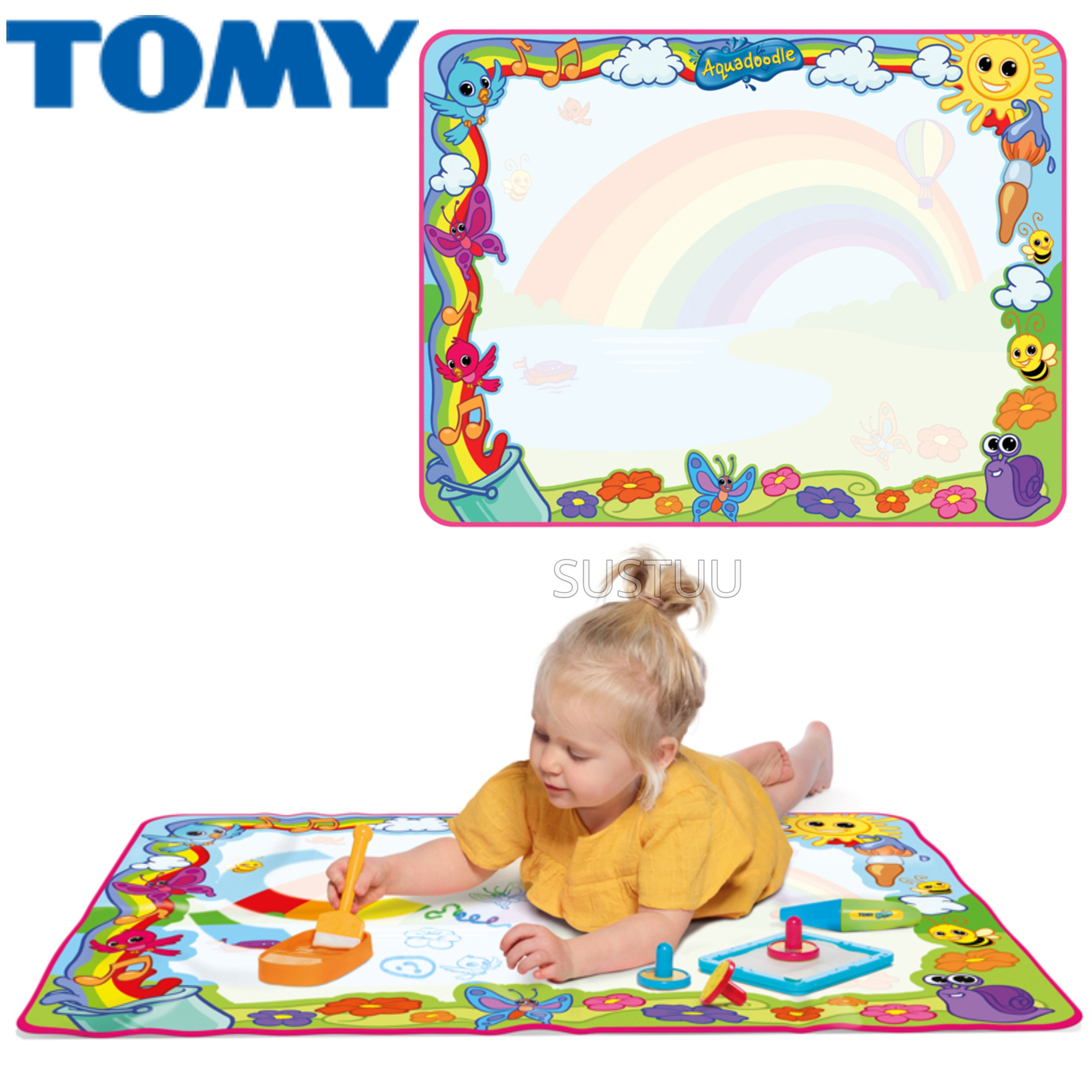 Tomy Aquadoodle-Super Rainbow Deluxe  Childrens Mess Free Drawing Fun With Pen   New