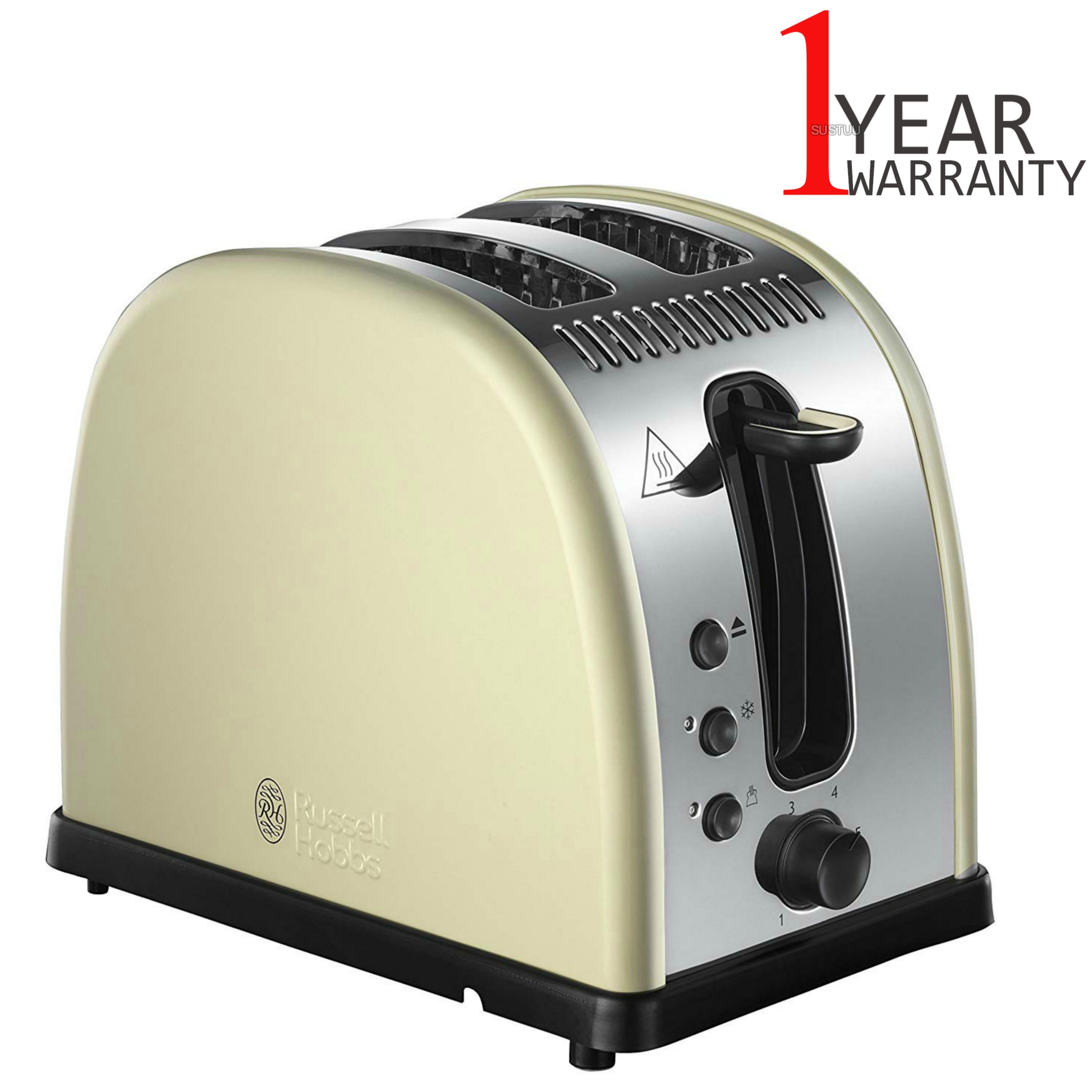 Russell Hobbs RU-21292 Legacy 2-Slice Toaster | Reheat Function | Wide Slot Cream