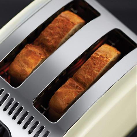 Russell Hobbs RU-21292 Legacy 2-Slice Toaster | Reheat Function | Wide Slot Cream Thumbnail 4