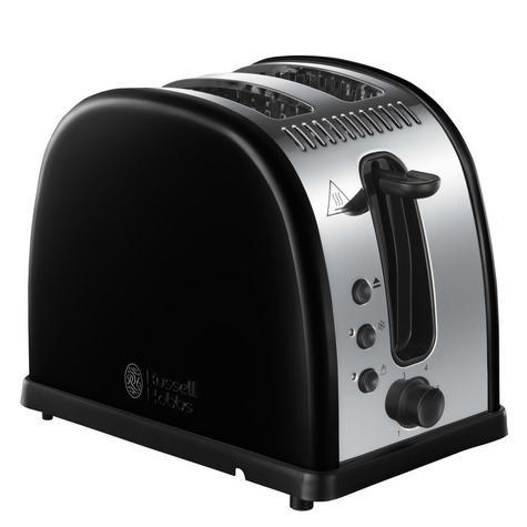 Russell Hobbs RU-21293 Legacy 2-Slice Toaster | Reheat Function | Wide Slot Black Thumbnail 2