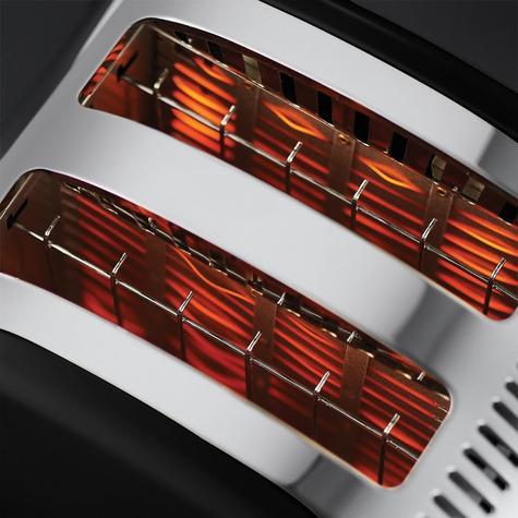 Russell Hobbs RU-21293 Legacy 2-Slice Toaster | Reheat Function | Wide Slot Black Thumbnail 3