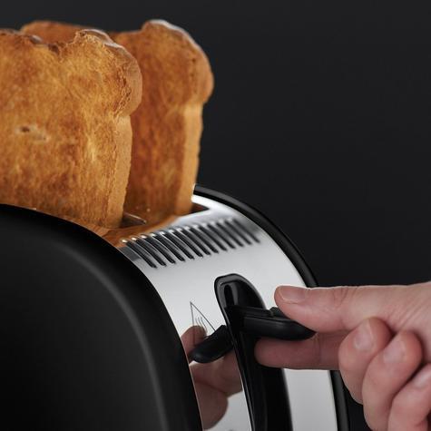 Russell Hobbs RU-21293 Legacy 2-Slice Toaster | Reheat Function | Wide Slot Black Thumbnail 4