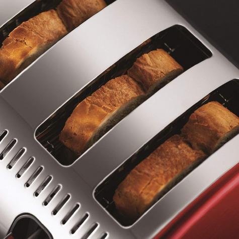 Russell Hobbs RU-21301 Legacy 4-Slice Toaster | 2 & 4 Slice Operation | Metallic Red Thumbnail 5