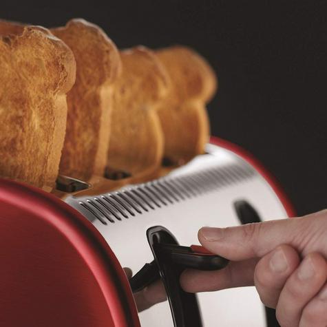 Russell Hobbs RU-21301 Legacy 4-Slice Toaster | 2 & 4 Slice Operation | Metallic Red Thumbnail 6