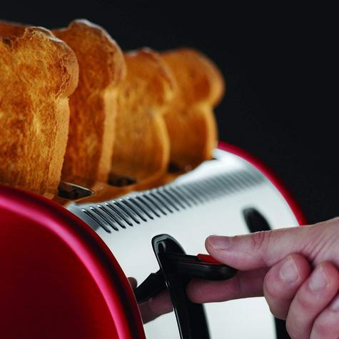 Russell Hobbs RU-21301 Legacy 4-Slice Toaster | 2 & 4 Slice Operation | Metallic Red Thumbnail 7