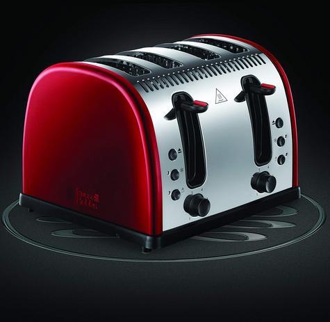 Russell Hobbs RU-21301 Legacy 4-Slice Toaster | 2 & 4 Slice Operation | Metallic Red Thumbnail 8