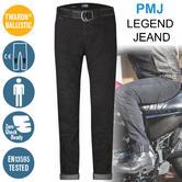 PMJ Rider Motorcycle Mens Slim Fit Jeans|EN 13595-2 Tested|100% TWARON|Black